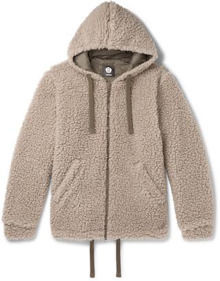 Aspesi Wool-Blend Fleece Zip-Up Hoodie - Men - Neutrals