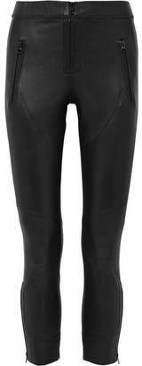 Isabel Marant Happy Leather Skinny Pants - Black