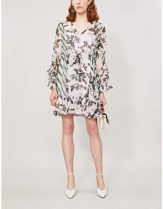 Diane von Furstenberg Harlow floral-print silk mini dress