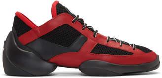Giuseppe Zanotti Red and Black Light Jump Sneakers