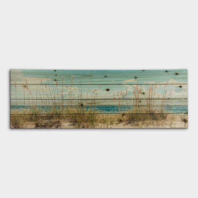 Beach Dunes on Wood Wall Art