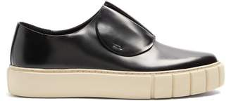 Primury - Paper Planes Slip On Leather Trainers - Mens - Black