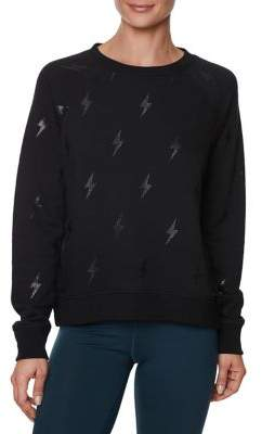 Betsey Johnson Lightning Glitter Sweatshirt