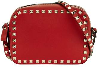 Valentino Leather Rockstud Camera Cross Body Bag