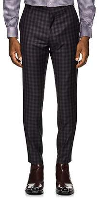Paul Smith Men's Plaid Wool Flannel Slim Trousers