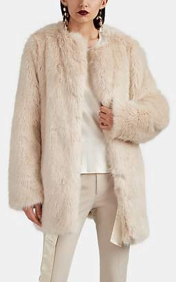 Helmut Lang Women's Faux-Fur Coat - Beige, Tan