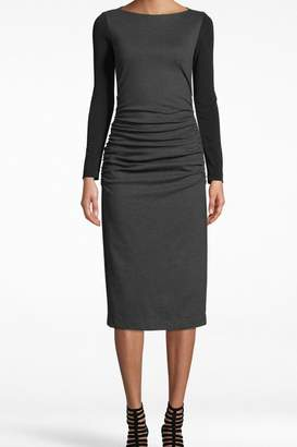 Nicole Miller Ponte Ruched Dress