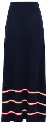 Madeleine Thompson Striped Wool And Cashmere-blend Maxi Skirt