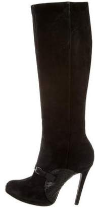 Giambattista Valli Suede Knee-High Boots