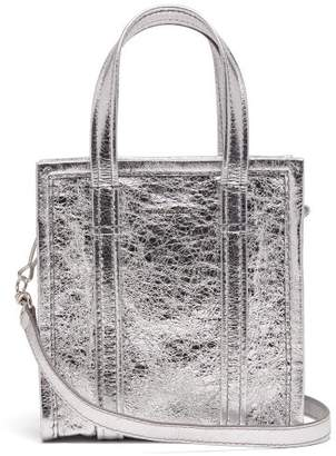 Balenciaga Bazar Shopper Xxs - Womens - Silver