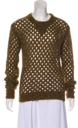 Isabel Marant Metallic Knit Sweater Brown Metallic Knit Sweater