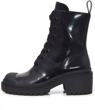 Marc Jacobs Bristol Laced Up Boot in Black