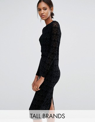 Vero Moda Tall Lace Long Sleeve Dress $58 thestylecure.com