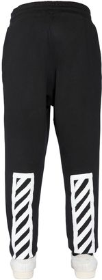 Brushed Stripes Cotton Jogging Pants $451 thestylecure.com