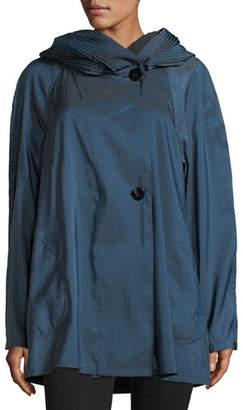Mycra Pac Mini Donatella Reversible Pleat Hood Packable Jacket