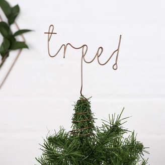 LOFT The Letter Christmas Tree Topper