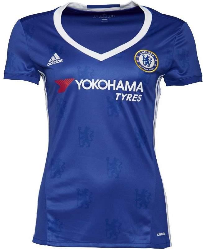 Damen CFC Chelsea Home Fußball Trikot Blau