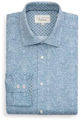 Ted Baker Quizz Trim Fit Paisley Dress Shirt