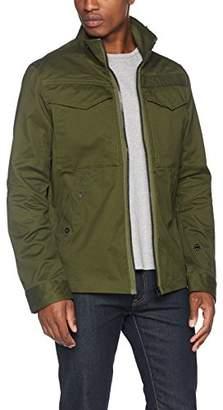 G Star Men's Deline Overshirt L/S Jacket, Green (Dk Bronze 6059), Small