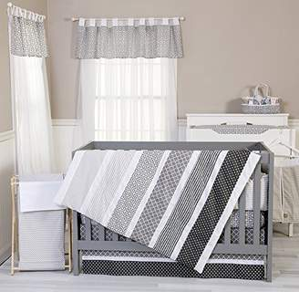 Trend Lab Crib Bedding Set Ombre Gray 4 Piece