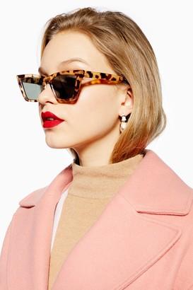 Topshop Womens Pandora Sunglasses - Tortoise She