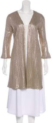 Calypso Metallic Rib Knit Cardigan