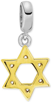 Rhona Sutton Two-Tone Star of David Bead Charm in Sterling Silver