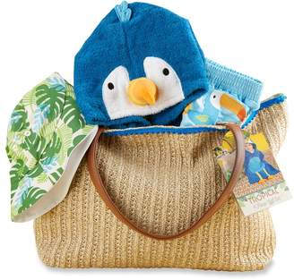 Baby Aspen Baby Boy Tropical Cover-up, Swim Trunks, Hat & Tote Gift Set