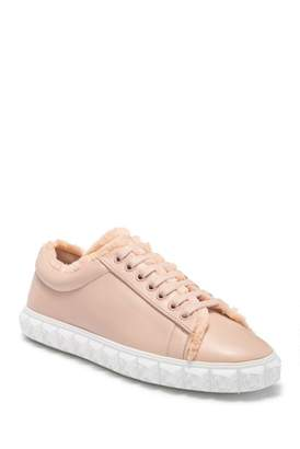 Stuart Weitzman Fringecoverstory Leather Sneaker