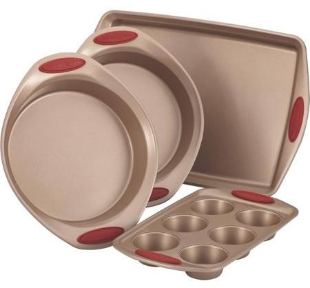 Rachael Ray Cucina Nonstick Bakeware 4-Piece Set, Latte Brown