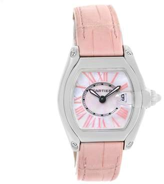 Cartier Roadster W6206006 Stainless Steel & Mother Of Pearl Dial 30mm Womens Watch