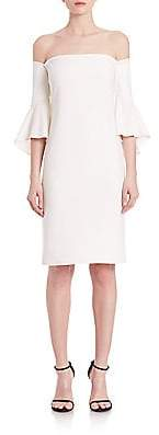 Laundry by Shelli Segal Women's Off-The-Shoulder Bell Sleeve Dress - Size 0