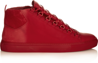 BALENCIAGA Arena high-top leather trainers $665 thestylecure.com