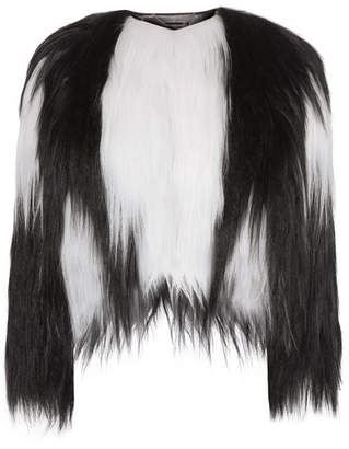 Givenchy Two-tone Goat Hair Coat - Black