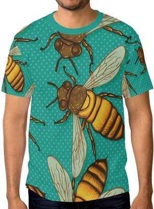 24acd788491 My Daily Bee Retro Comic Men s Short Sleeve T Shirt Casual Crew Neck Tee
