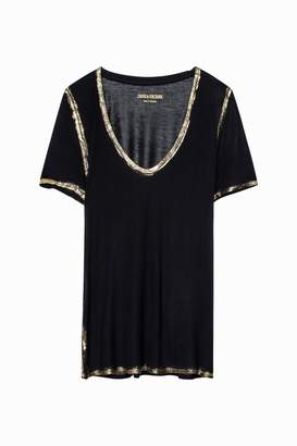 Zadig & Voltaire Tino Gold T