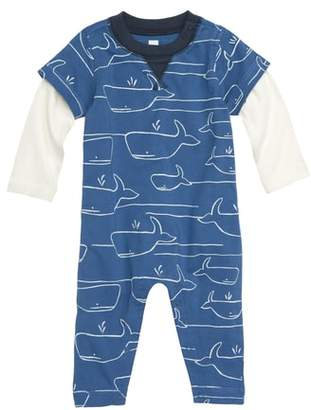 Tea Collection Whale of a Time Layered Romper