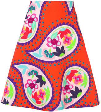 DELPOZO graphic print skirt