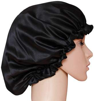 ManMan Natural Silk Sleep Night Cap Head Cover Bonnet Hat for for Hair Beauty