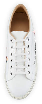 Lanvin Men's Leather Low-Top Sneakers w/ Text
