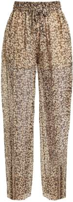 Zimmermann Prima Cherry silk-georgette trousers