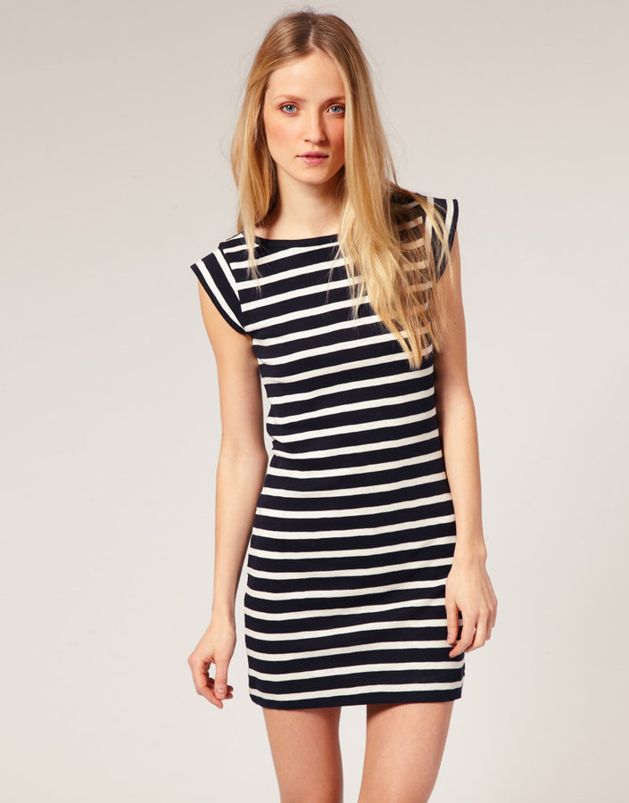 Shopping for stripes on a budget popsugar fashion for French connection t shirt dress