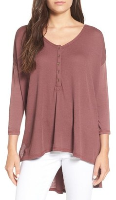 Billabong 'Hard to Chase' Three Quarter Sleeve Thermal Top $44.95 thestylecure.com
