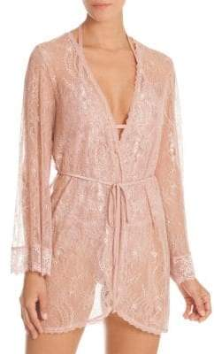In Bloom Blush Lace Wrapper