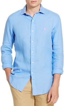 Polo Ralph Lauren Linen Classic Fit Button-Down Shirt $98.50 thestylecure.com