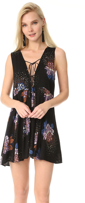 Free People Lovely Day Printed Tunic Dress $88 thestylecure.com