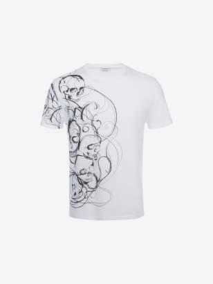 Alexander McQueen Organic Jersey Skull Printed T-Shirt