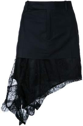 A.F.Vandevorst asymmetric lace hem mini skirt
