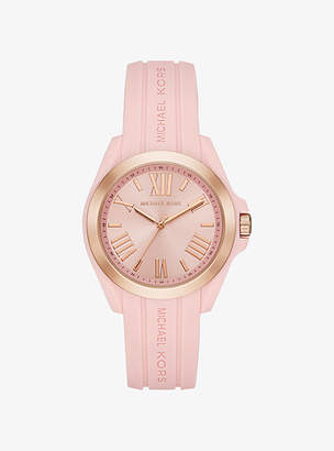 Michael Kors Bradshaw Rose Gold-Tone And Silicone Watch