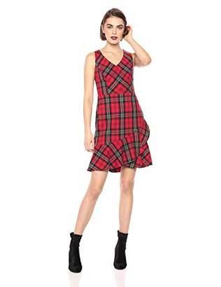 Trina Turk Women's Spumante Ruffle Hem Sleeveless Dress